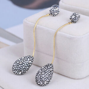 Alexis Bittar Crystal and Gold Pave Teardrop Dangle Earrings