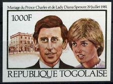 St. Thomas & Prince está. 1981 Princesa Diana Boda Real 1000f Estampillada sin montar IMPERF #D7750
