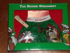 Warner Bros 1998 Looney Tunes Taz Boxer Christmas Ornament Novelty