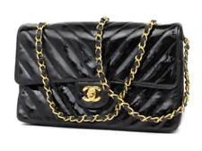 Chanel Chevron Quilted Patent Medium Classic Flap 232106