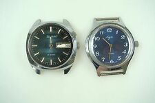 2 Russian Untested Wrist Watch for Parts Slava 26 Jewels Luc 23 Jewels Nr 7275