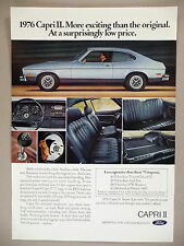 Ford Capri II PRINT AD - 1975 ~ 1976 model