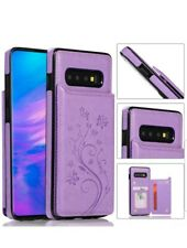 Case Cover For Samsung Galaxy S10e Magnetic Leather Wallet Phone Purple 💜