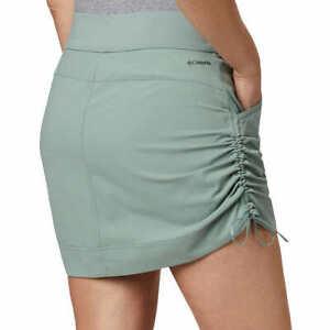 NWT Women's COLUMBIA Marina Bay Skort / Skirt Active Fit Omni Shield Black Green
