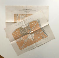 Torino 1887 - Terreni Fabbricabili Soc. Anonima Imm. Torinese - 2 litorgrafie