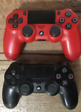2 PS4 Authentic DualShock Controllers 1 RED, 1 BLACK