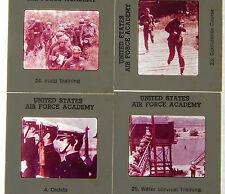 "VINTAGE SET 39, 60's US AIR FORCE ACADEMY 2""X2"" COLOR PHOTO SLIDES USAF MILITARY"