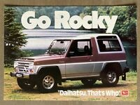 1988 Daihatsu Rocky original Australian sales brochure