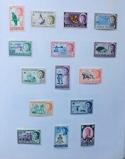 Cayman Islands QEII 1962-64 SG 165/179 Set of 15 MLH Cat £95