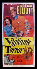 VIGILANTE TERROR * CineMasterpieces COWBOY ORIGINAL MOVIE POSTER WESTERN 1953