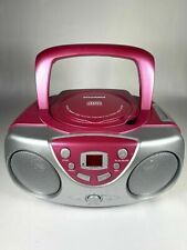 SYLVANIA SRCD243M-Pink Portable CD Boom Box with AM/FM Radio