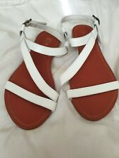Next White Leather Strappy Sandals size 5 New