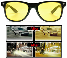 Night Vision Anti Glare Driving UV400 Yellow Lens Unisex Glasses Sunglasses