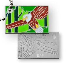 CoinsAndPins® Travel Eagle aDLER vOGEL tRAVELBUG tRAVELtAG TRACKABLE