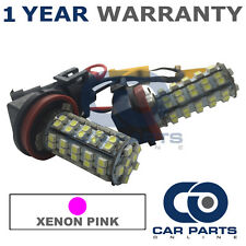 2X CANBUS PINK H8 60 SMD LED FOG LIGHT BULBS FOR SKODA FABIA OCTAVIA ROOMSTER