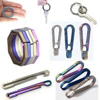 EDC Titanium Key Ring Hanging Buckle Outdoor Keychain Tool Creative Keyring Clip