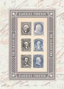 USA Stamps Classic Forever 2016 MNH Souvenir Sheet of 6 Stamps