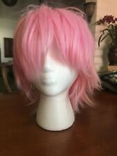 New listing Short Pink Anime Cosplay Wig Used Good Condition