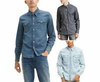 LEVI'S Mens Barstow Denim Shirt Vintage Long Sleeve Casual Western Shirt