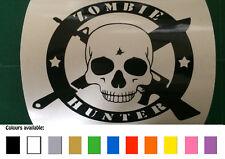 Zombie Hunter funny car / bike / toolbox / window sticker decal