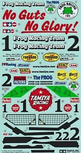Sticker Sheet for Tamiya Frog part # 19400373