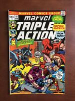 Marvel Triple Action #10 (1973) 7.5 VF Bronze Age Comic Book Avengers Thor