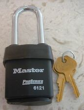 MASTER LOCK PRO SERIES #10702 6121 LJ WEATHERPROOF PAD LOCK COMMERCIAL GRADE