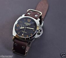 for Panerai zulu style watch strap leather Military Vintage 18mm - 26mm Handmade