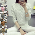 Fashion Womens Long Sleeve Knitted Sweater Loose Cardigan Tops Outwear Pullover