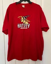 VNG Hatuey Beer by Bacardi Graphic Tee T Shirt Red White Adult Men's Size XL