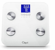 Ozeri Touch Digital 440 lb. Bathroom Total Body Weight Bath Scale with Baby Tare