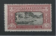 Italy #165 Og, Vf Lh Issue Manzoni Painting- S8145