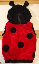 Plush Ladybug costume - black and red - toddler size hoodie - HALLOWEEN - NIP