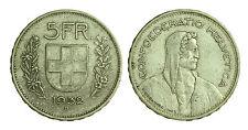 pci1407) Svizzera  Switzerland  Helvetia - 5 Franchi Francs 1932 B not cleaned