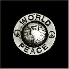 WORLD PEACE HAT,JACKET VEST BIKER PIN