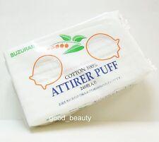 Suzuran 100% Pure Cotton Cosmetic Makeup Facial Attirer Puff Pads 240 pcs Japan