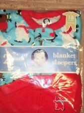 Gerber Blanket Sleepers 18 month HOLIDAY FLEECE SLEEPER RED  2 PACK NEW