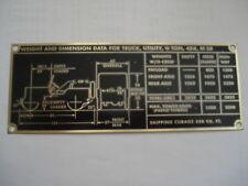 Panneau TYPE JEEP M 38 M38 id-plaque