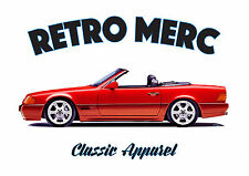 MERCEDES SL R129 t-shirt. RETRO MERC. CLASSIC CAR. MODIFIED. GERMAN. AMG.