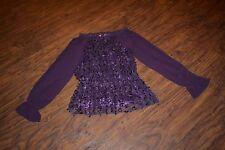 J7- American Glamour Badgley Mischka Purple Top Size Medium