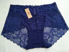 DressNStyle NWT VICTORIA'S SECRET Lace Lacey SEXY Royal Blue Panty Underwear XL