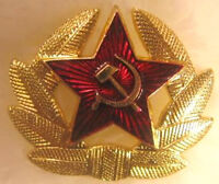 Soviet USSR Russian Army Red Star Hat Enamel Metal Pin Badge #10
