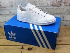WOMENS ADIDAS STAN SMITH WHITE LEATHER SPORTS RUNNING TENNIS TRAINERS UK SIZE 4