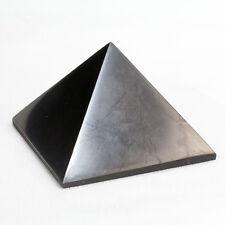 Shungite  Polished Pyramid Protection Healing Reiki 100mm from Karelia Russia