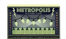 set of 20 LED vintage retro festoon style METROPOLIS party decorative lights