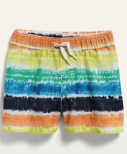 NWt 18-24 mos swim trunks rainbow tie dye bathing suit swimming old navy swim