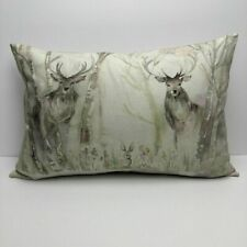 "Voyage Maison Enchanted Forest Cushion Cover 16""x 24""  Deer Handmade In UK"