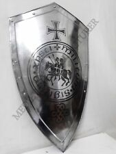 Medieval Vintage Knight Shield All Metal Handcrafted Armour Shield Sca Gift