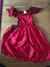 Halloween costume - red/black witch or vampire dress, 9-10 years, Tesco VG