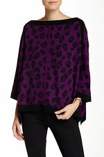 Juicy Couture wool and cashmere leopard Animal Print poncho £328 sold-out